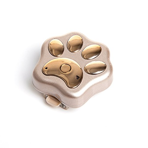 Per Pet GPS Tracker 2G Waterproof Positioning Locator With Light Anti-Lost Prevent Wander For Cats Dogs Rabbits Wireless Charging-Gold