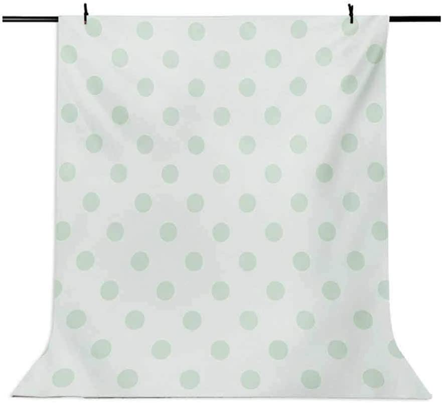 Mint 10x15 FT Backdrop Photographers,Retro Polka Dots Pattern Old Fashion Classic Spots Cute Circles Nostalgic Artwork Background for Baby Birthday Party Wedding Vinyl Studio Props Photography