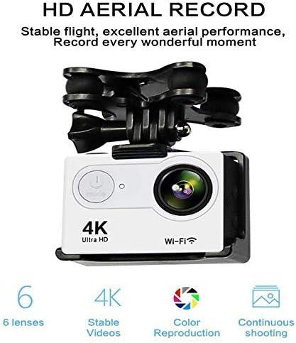 SQSAY GW180 Drone RC avec caméra PTZ 4K HD, Quadricoptère pour Avions en Temps réel avec vidéo en Direct WiFi FPV avec lumières Del