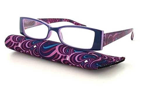 Calabria Victoria Designer Reading Glasses in Purple ; +1.25