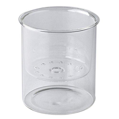 - Time Concept Laboratory Clear Glass Vase Inside Planter - Wide - Long-Stemmed Flower Pot, Home Planter Decor