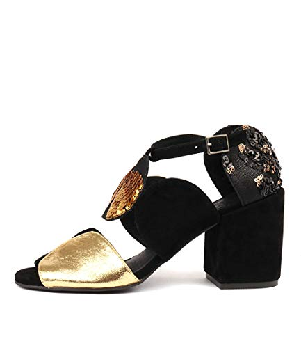 High Black amp;Gold MULTI SILENT Sandals D Heels BLACK amp;GOLD Womens Shoes Kelly 4WaYUaR