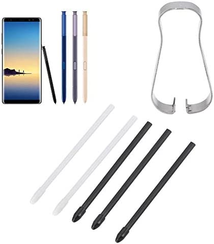 White Vococal Touch Stylus Remove Tool with 5pcs Replacement Refill Tips Nibs Compatible with Samsung Galaxy Note 3 4 5 S Pen