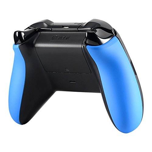 eXtremeRate Blue Soft Touch Left Right Panel Handle Side Rails Replacement Parts for Xbox One Controller One Color Parts