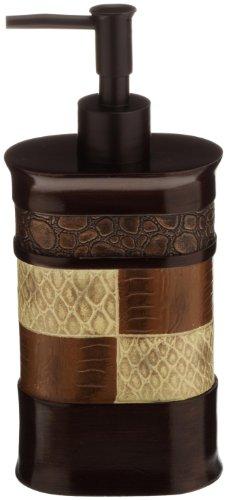 Popular Bath Soap Dispenser/Lotion Pump, Zambia Collection, Animal Print/Beige