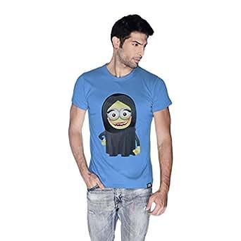 Creo Arab Woman Minions Round Neck T-Shirt For Men - S, Blue