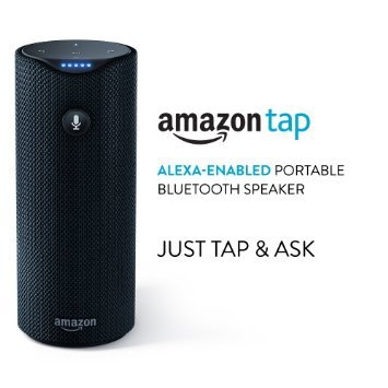 AMAZON TAP ALEXA-ENABLED PORTABLE SPEAKER MICROPHONE VOIC...