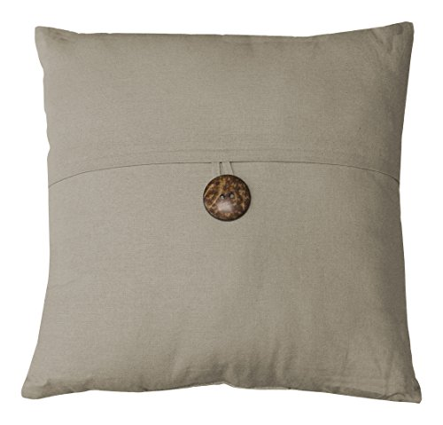 Elrene Home Fashions 26865880083 Decorative Linen Solid Couch/Sofa/Bed Cushion Pillow, 18