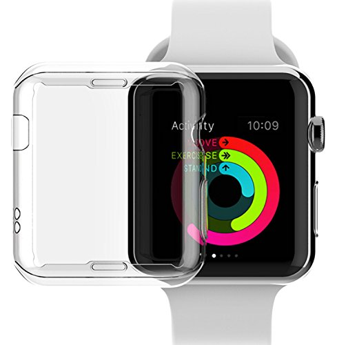 Price comparison product image Apple Watch Series 2 38mm Case, NSR Apple Watch TPU Screen Protector All-around Protective 0.3mm HD Clear Ultra-thin Cover Case for iWatch 38mm