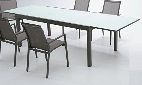 Mesa aluminio extensible Rhone 200-300x100: Amazon.es: Jardín