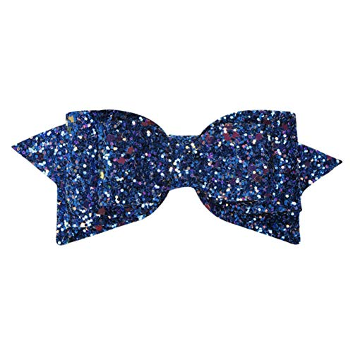Sequins 5 alligator clip hair style Baby girls Nylon mesh bow hair clips -WE85 (Color - 645) -