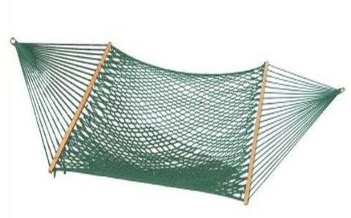 Bliss Hammocks BH-410G Classic Cotton Rope Hammock with Spreader Bar, Green