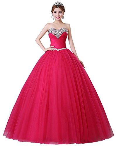 Beauty-Emily -  Vestito  - fasciante - Senza maniche  - Donna rosso rose 40