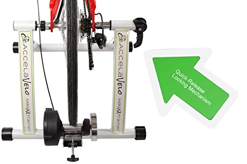 AccelaVelo Mag-XA Indoor Adjustable Magnetic Bike Trainer - 6 Levels Of Resistance - Handlebar Remote Is Included - Complete 2 Year Warranty by AccelaVelo (Image #2)