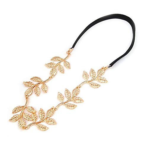 NiceWave Forehead Leaf Festival Hippy Head Hair Band Gold Hot Sale Useful Makeup Tools