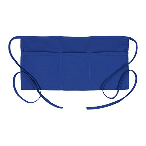 Fame Adult's 3 Pocket Waist Apron -Royal Blue-O/S (Blue 3 Pocket Waist Apron)