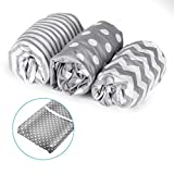 Momcozy Baby Changing Table Pad Cover Set for Boys & Girls | 100% Soft & Breathable | Unisex Patterns & Fitted Elastic Design | Nursery Bedding Sheets 3-Pack
