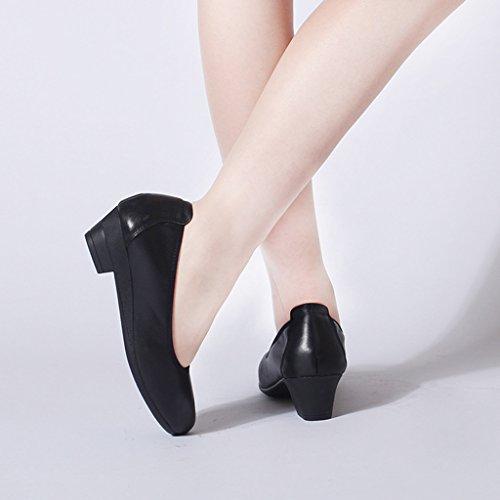 de travail rugueuses chaussures Noir noires Noir professionnelles ALUK semelles femmes avec chaussures Couleur pointues taille chaussures à souples 35 pour Chaussures Sh confortables qBwx7wtIX