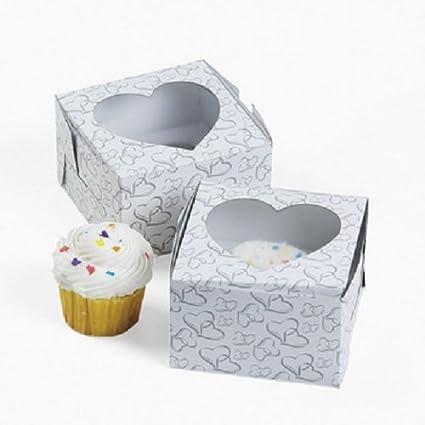 12 Hearts Cupcake Boxes