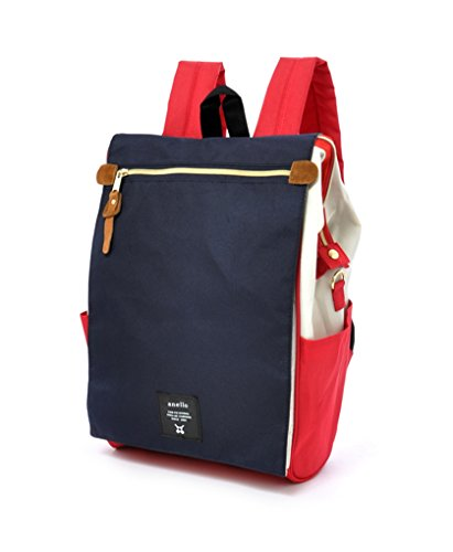 (Anello Polyester Canvas Waterproof Unisex Flap Backpack (Tricolor (F)))