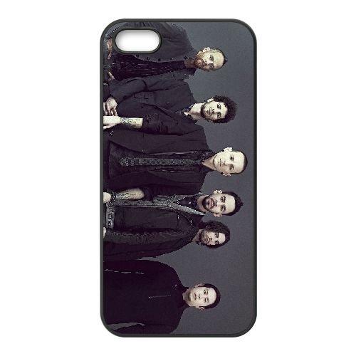 Linkin Park Living Things Album Wide coque iPhone 5 5S cellulaire cas coque de téléphone cas téléphone cellulaire noir couvercle EOKXLLNCD25574