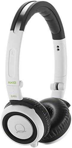 AKG Acoustics Q460WHT Quincy Jones signature line on-ear headphones -White