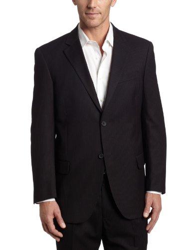 Dockers Men's Suit Separate Coat, Black Stripe, 40 (Black Stripe Suit Separates)