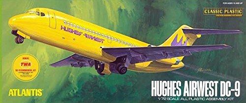 DC-9 Jetliner Hughes Airwest and TWA Markings 1/72 Aurora Atlantis