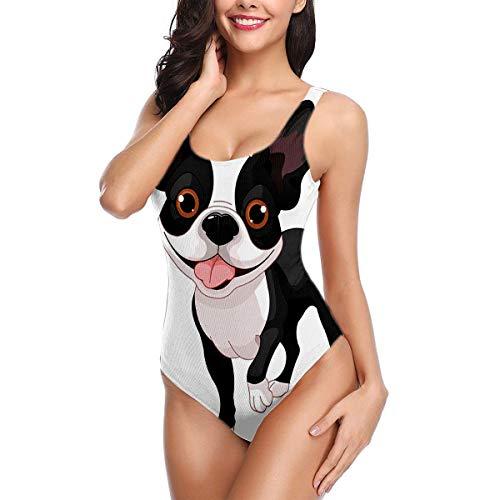 Womens Bikini Swimwear Boston Terrier Standing in Front of White XL (Best Boston Tourist Activities)