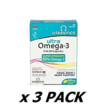 Amazon.com: Vitabiotics 550 mg Ultra Omega 3 Aceite de ...