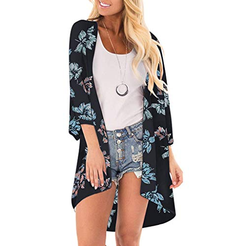 Women Fashion Chiffon Leaf Coat Tops Suit Bikini Swimwear Beach Swimsuit Smock