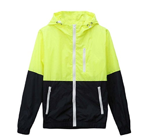 Sleeve Sunscreen Green Men Howme Coat Thin Contrast Jacket Long Hoodie qwpwFPECx
