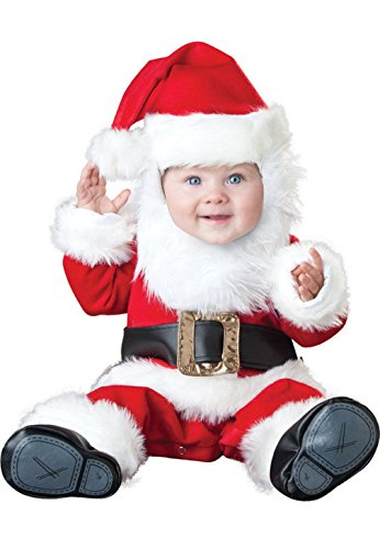 [Mememall Fashion Deluxe Santa Baby Infant/Toddler Costume] (Deluxe Plush Cow Mascot Costumes)