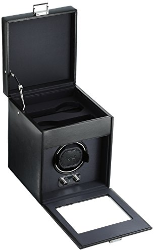 WOLF 270302 Heritage Single Watch Winder with Cover and Storage, Black by WOLF (Image #1)