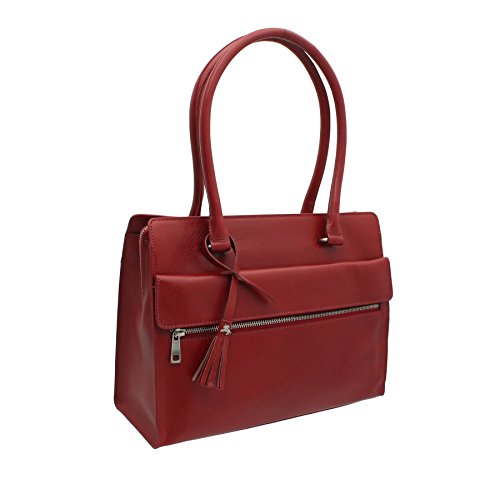 Bag Giorgia Italian Vintage Work Itl78 Collection Red Leather Visconti Sqp4wcBgq