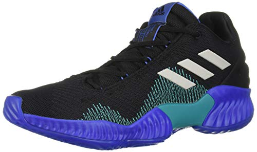 adidas Men's Pro Bounce 2018 Low Basketball Shoe, Black/Light Solid Grey/hi-res Blue, 13 M US