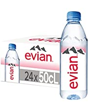 evian Mineral Water, Naturally Filtered Drinking Water, 500ml Bottled Water Crafted by Nature, Case of 24 x 500ml evian Water Bottles