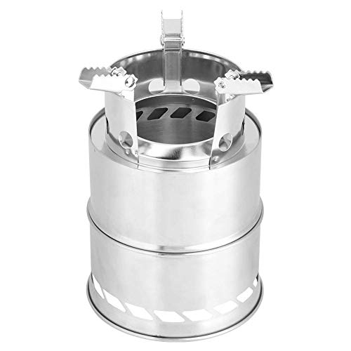 Fdit Draagbaar roestvrij staal hout en Alcoho Burning Stove Camping kookgerei Set Camping Stove RVS Backpacking Stove…