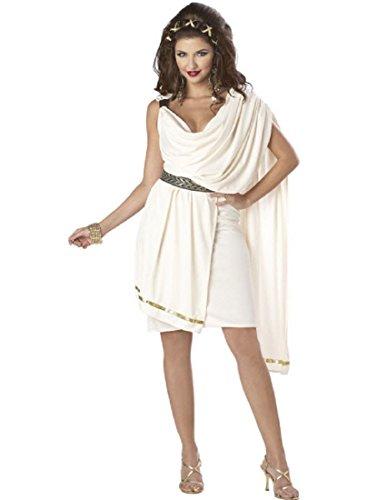 California Costumes Women's Deluxe Classic Toga Tunic, Cream, Small (Female Roman Costume)