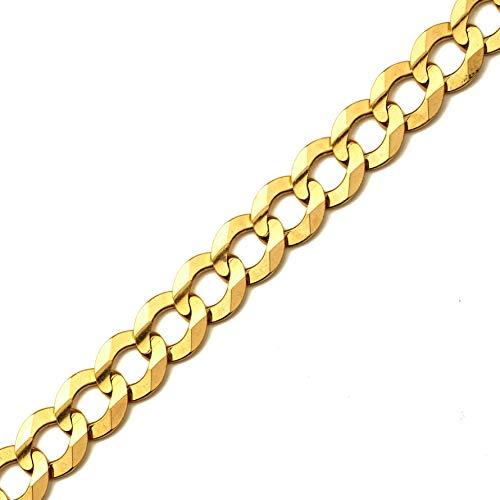 - LoveBling 10k Yellow Gold 12mm Plain Solid Curb Cuban Bracelet W/Lobster Lock (9