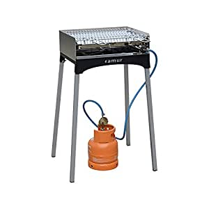 famur mucho utilizar con barbacoa Life camping con verchromtgrillfläche BK6Life de camping de gas