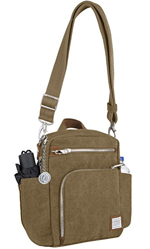 Heritage Shoulder Tote (Travelon Anti-theft Heritage Tour Travel Totes, Messenger Bag, Handbag, Purse, Metal Charm Keychain (Oatmeal))