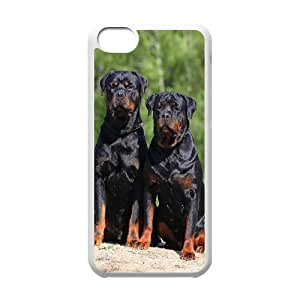 GTROCG Rottweiler dog Phone Case For Iphone 5C [Pattern-4]