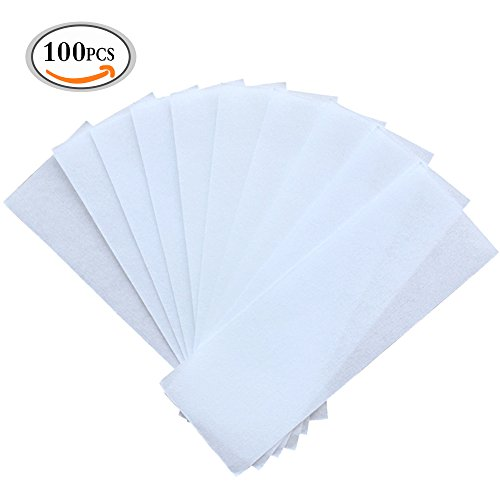 OR Pure Profession Disposable Hair Removal Paper 100pcs Pack Non-Woven Epilating Cloths for Legs Arms Body Face Brows No Hair Removal Wax (Box-packed)