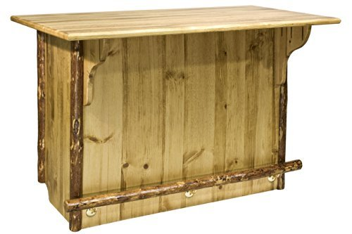 Montana Woodworks MWGCBWR Glacier Country Collection Bar with Foot Rail