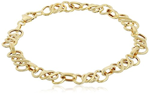 14k Yellow Gold Textured Celtic Bracelet, 7.5