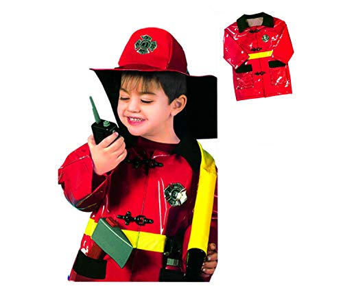 GradPlaza Children Fireman Dress up Set Costume Red]()