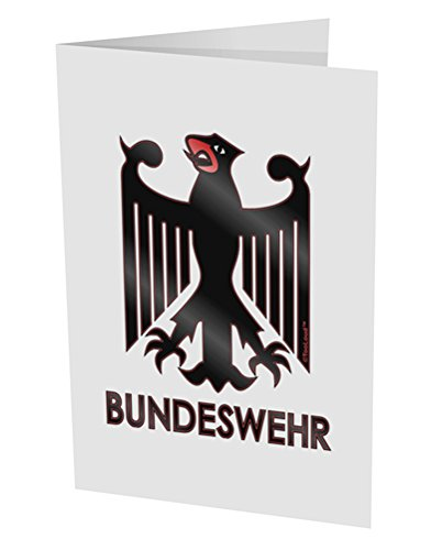 """Price comparison product image TooLoud Bundeswehr Logo with Text 10 Pack of 5x7"""" Side Fold Blank Greeting Cards"""