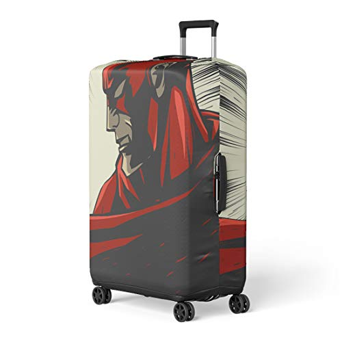Pop Art Comic Book Character Costumes - Semtomn Luggage Cover Hero Red Comic