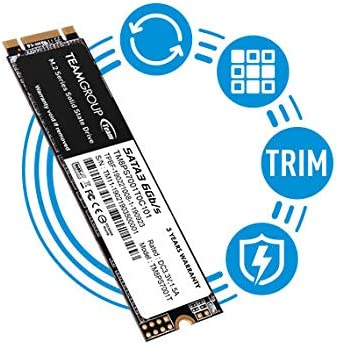 TEAMGROUP MS30 256GB with SLC Cache 3-D NAND TLC M.2 2280 SATA III 6Gb/s Internal Solid State Drive SSD (Read/Write Speed as much as 500/400 MB/s) Compatible with Laptop & PC Desktop TM8PS7256G0C101